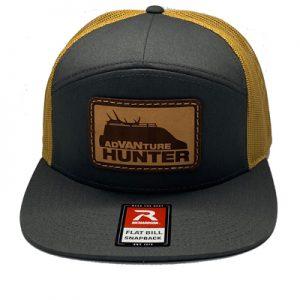 Order Online | AdVANture Hunter Solo Snapback Hat Charcoal/Old Gold